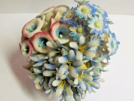 Capodimonte Morning Glories Large Porcelain Flower Arrangement Centerpiece Italy - $123.75