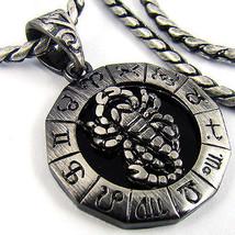 Mens Scorpion Pendant Necklace Chain Star Sign Punk Rider Hiphop Antique 78 - $35.63