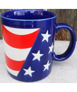 Flag Mug Cup Otagiri Japan Red White Blue - $15.00