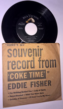 "EDDIE FISHER Souvenir Record From COKE TIME 45 rpm 7"" Single EP 1953 Jaz... - $8.99"