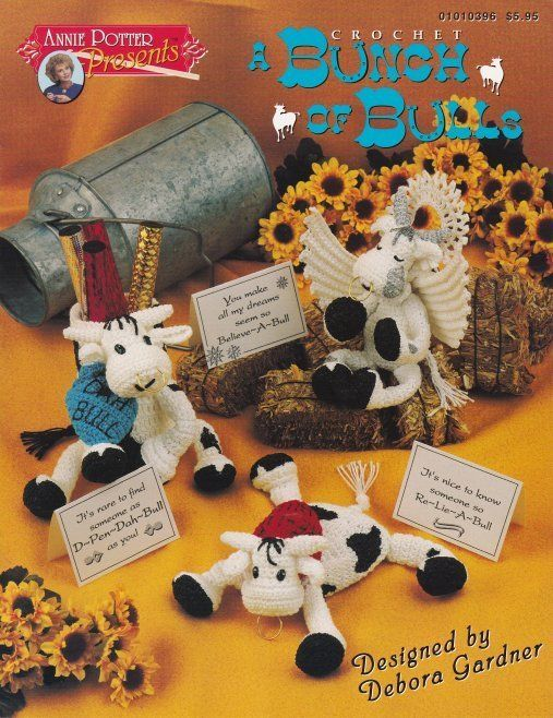 Primary image for Bunch of Bulls Crochet Angel Loveable Cape Bear Kiss Hearts OOP Patterns CUTE