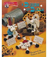 Bunch of Bulls Crochet Angel Loveable Cape Bear Kiss Hearts OOP Patterns... - $6.88