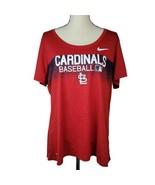 Nike St Louis Cardinals Womens Tshirt XL Red Graphic Tee MLB Baseball Dr... - $24.99