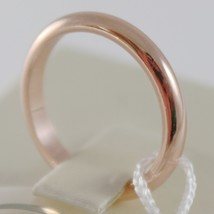 SOLID 18K ROSE GOLD WEDDING BAND UNOAERRE RING 4 GRAMS MARRIAGE MADE IN ITALY image 2