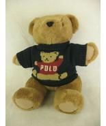 Polo Ralph Lauren Plush Jointed Teddy Bear 1997 Trademark Polo Sweater V... - $24.74