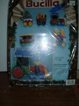 Bucilla  #83024 Christmas Express Train  6 Felt Ornaments 1993 Felt Sequins Bead - $14.80