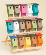 BLUEBIRD HOUSE - Amish Handmade Weatherproof Recycled Poly ~ 40 Color Ch... - $49.97