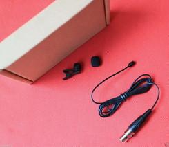 Micro Black Clip-on Tie Lavalier Lapel Microphone for AKG / Samson Wireless - $25.72