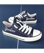 new york yankees shoes womens ny yankees sneakers baseball fashion canva... - $59.99