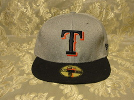MLB Texas Rangers silver and black cap with pop up blue embroiders size ... - $28.50