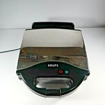 KRUPS F654 Belgian Waffle Maker w/ Nonstick Plates LED Indicators & Stai... - $24.99