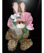 """Gibson Greetings 1998 """"Hares In Hats"""" Bunny Rabbit Easter Stuffed Plush ... - $14.84"""