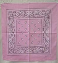 """Wholesale Lot 6 22""""x22"""" Paisley Pink Bandana - $14.88"""