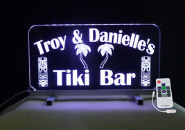 Tiki Bar Sign, Man Cave Sign, Personalized Gift for her, Color Changing - $94.05+