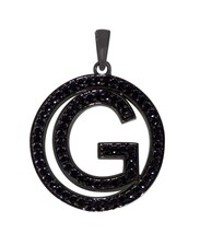 "Gorgeous Looking English Alphabet ""G"" Black Spinel Gemstone Pendant SHPN... - $22.80"