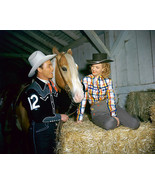 Roy Rogers & Dale Evans in Stable With Trigger 8x10 HD Aluminum Wall Art - $39.99