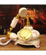 Vintage Retro Classic White Rotary Dial Antique European Garden/Bedside ... - $329.95