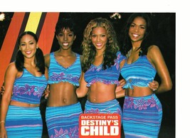 Destiny's Child teen magazine pinup clipping rare all 4 matching outfits 1990's