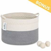 """3Cheers Cotton Rope Storage Basket XXL 21"""" X 13""""