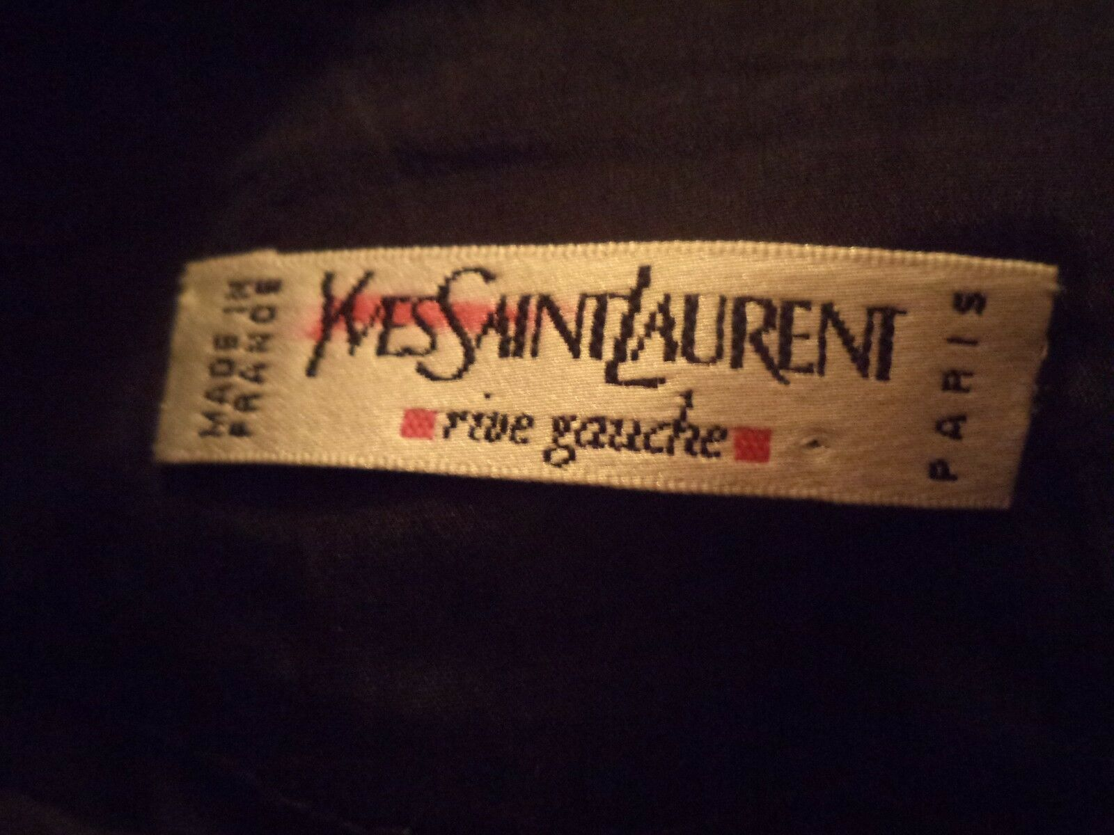 "Yves St. Laurent Rive Gauche Black Short High Low Wool Skirt Size 42 W 26"" RARE"