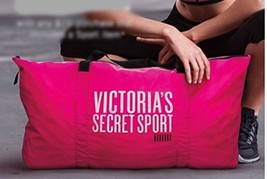 Victoria's Secret Sport Tote Pink Gym Bag Duffel Travel Carry On - $90.70