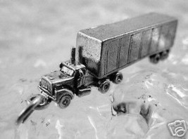 NICE Tractor Trailer 3D Truck vehicle Sterling Silver 925 Charm Pendant ... - $27.10