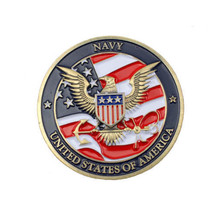 Navy Military Pocket Coin with Joshua 1:9 on back, plus three FREE prayer cards - $12.95