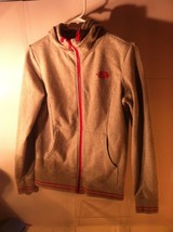 NORTH FACE HOODIE--WOMENS SIZE M--GRAY / PINK---FREE SHIP--VGC - $26.96