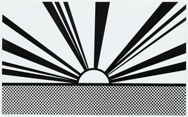 "Roy Lichtenstein ""Cloud and sea"" HD print on canvas large wall picture 4... - $29.69"