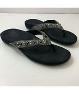 VIONIC 340 Floriana Faux Snakeskin Jeweled Sandals Womens US 8 - $48.92