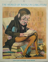The World of Books in Caricature - 1968 Gale Literary Date Book Art - Ca... - $49.99