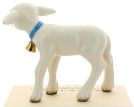 Hagen-Renaker Miniature Ceramic Lamb Figurine Large White with Bell image 4