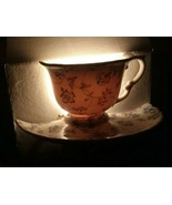 Nantucket Blue Floral Carnations Plus Night Light New In Box Tea Cup and... - $18.99