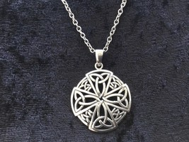 925 Sterling Silver Celtic Equal Sided Trinity Cross Pendant Necklace Chain - $39.59