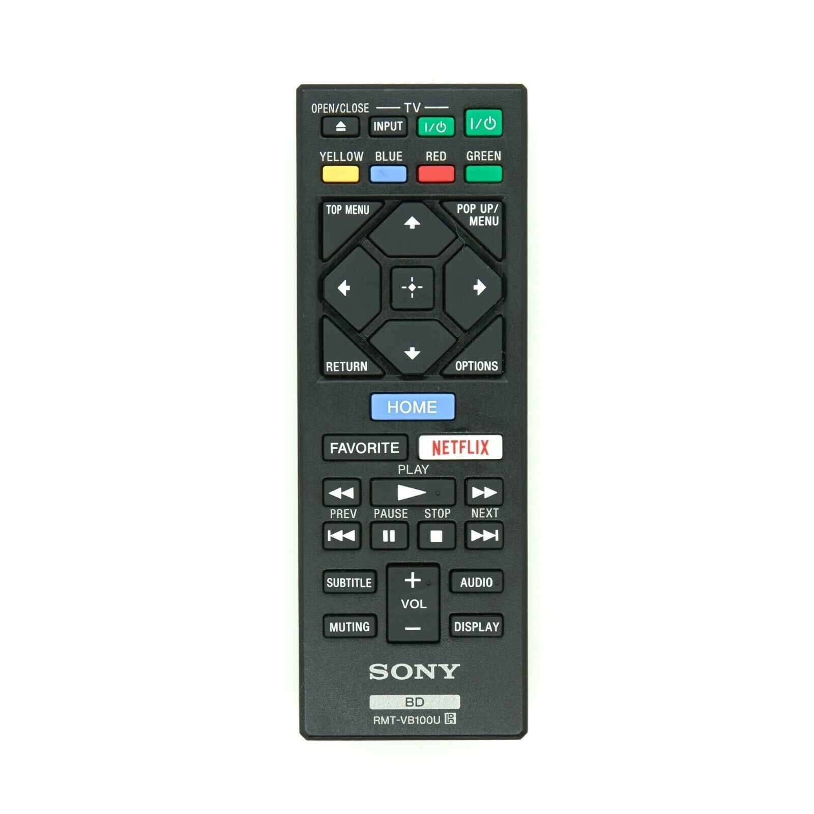 RMT-VB100U Remote for Sony Blu-ray DVD Player BDP-S1500 S3500 BDP-BX150 - $7.25