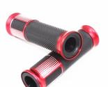 Red 7/8'' 22mm Motorcycle Handlebar Hand Grips Universal For Honda Yamaha Suzuki