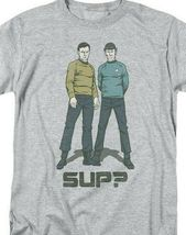 Star Trek t-shirt SUP? Kirk and Spock anime sci-fi graphic tee CBS1154 image 3