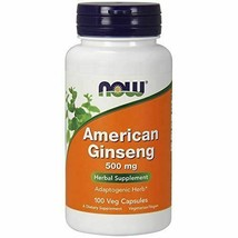 NEW NOW American Ginseng Non-GMO Soy Free Vegan 500 mg 100 Capsules - $17.37