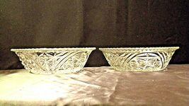 Heavy Etched Cut Glass Serving Bowls (Pair) AA20-CD0059 Vintage image 4