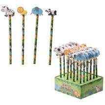Jungle Animal Pencils - Elephant, Panda, Lion, Zebra, Gift/Stocking Filler - $1.94