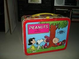 Vintage 1973 Peanuts Metal Lunch Box, Thermos Brand, No Thermos, VG+ - $24.74