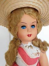 """Vintage 1950's Made in Italy 18"""" Hard Plastic Girl w/ Orig. Clothes - $28.99"""