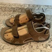 TEVA mens brown leather sports sandal waterproof 9 - $29.65