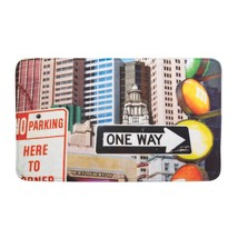 Porch Welcome Mat, City Traffic Signs Indoor Modern Decorative House Flo... - $23.19
