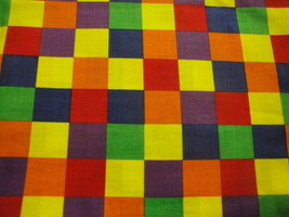 Bright Checked All Over Design By General Fabrics-BTY-Out Of Print - $7.95