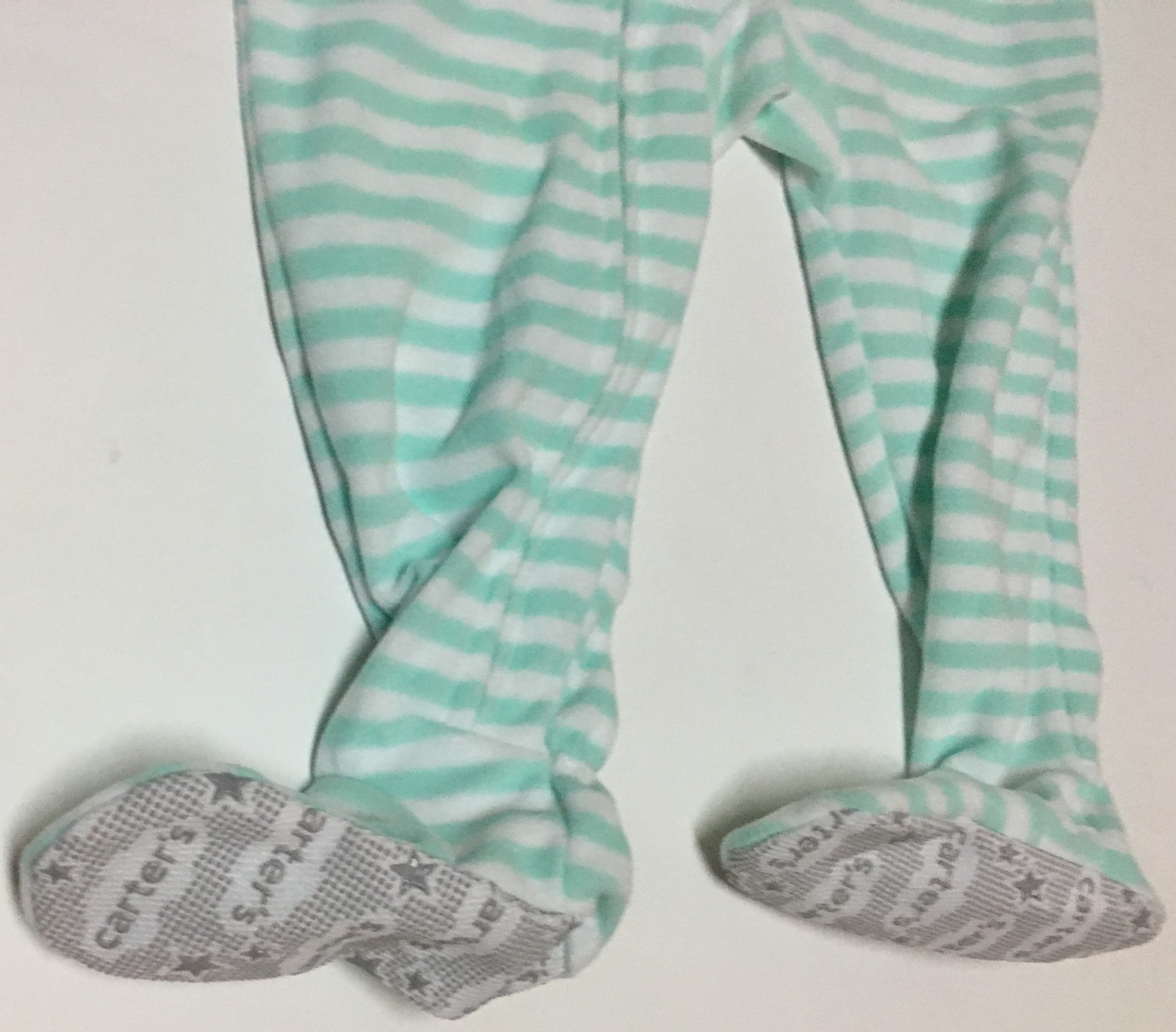 Carters One Piece Sleeper 18 MOS Non Slip Footies Puppy Striped NWT