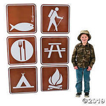 Jumbo Camp Sign Cutouts - $10.36