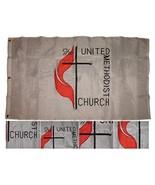 ALBATROS 3 ft x 5 ft Embroidered United Methodist Church 300D Nylon Flag... - $71.04