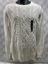 Gap White Knit Sweater Men's Size L New Nwt - $23.50