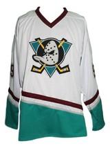 Any Name Number Mighty Ducks Custom Retro Hockey Jersey Banks White Any Size image 1